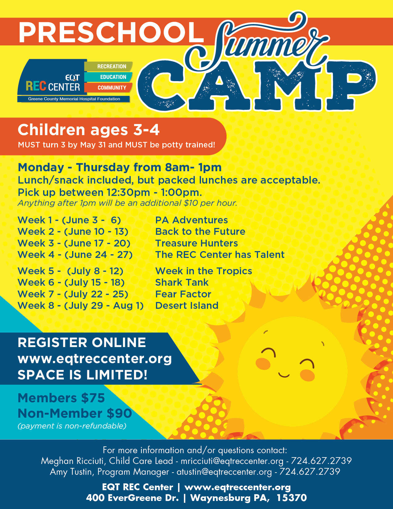 EQT REC Preschool Summer Camps 2019-02 - EQT REC Center