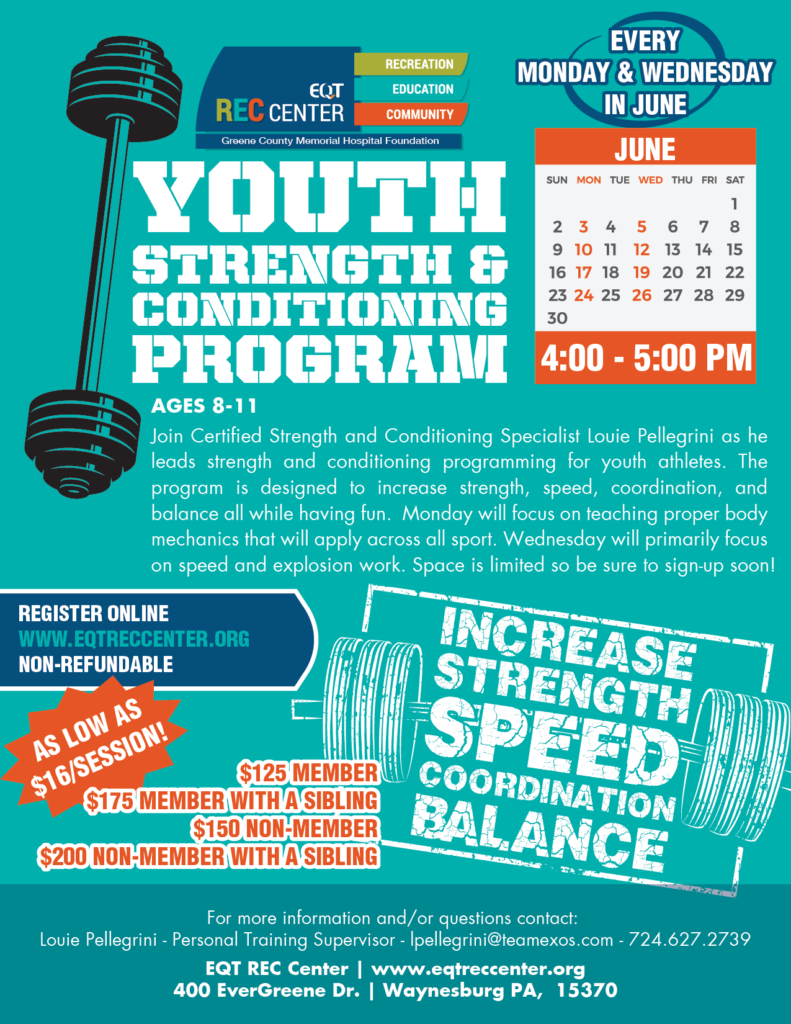Youth Strength and Conditioning Program - EQT REC Center